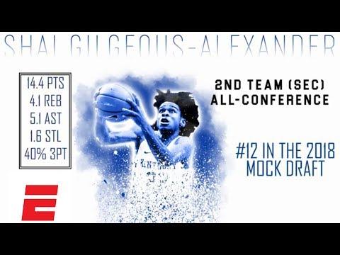 Shai Gilgeous-Alexander's 2018 NBA Draft Scouting Video   DraftExpress   ESPN