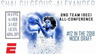 Shai Gilgeous-Alexander\'s 2018 NBA Draft Scouting Video | DraftExpress | ESPN