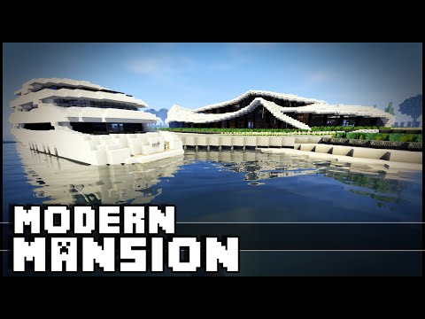 Minecraft - Modern Organic Mansion & Yacht!
