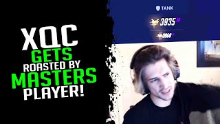XQC Gets Roasted By A Masters Player! - Overwatch Streamer Moments Ep. 86