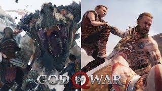 GOD OF WAR All Boss Fights & Endings - God of War 4 (2018)