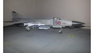 Mig 23 Flogger Build Video - Academy 1/72 for Speedy 197's 1970s Group Build