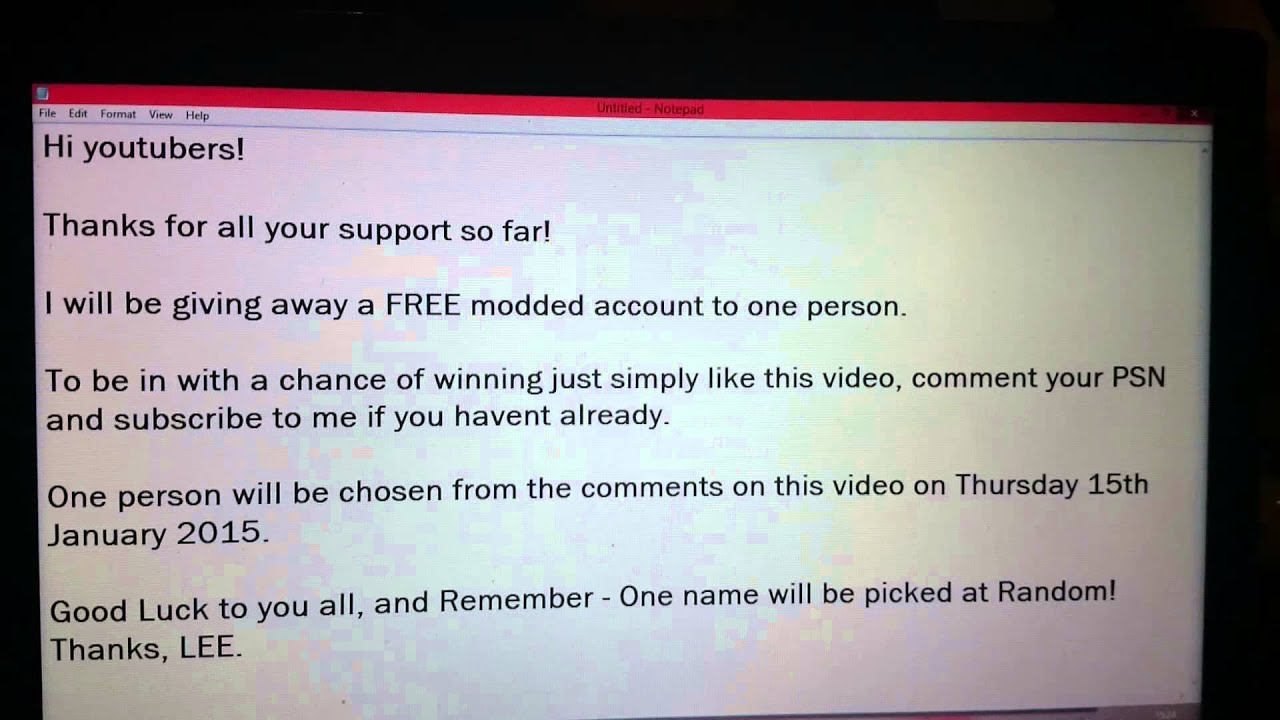 GTA 5 Online PS3 Modded Account Giveaway YouTube