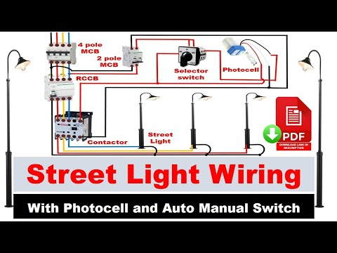 Street Light Wiring Connection With Sensor Photocell Wiring Diagram Electrical Technician Youtube