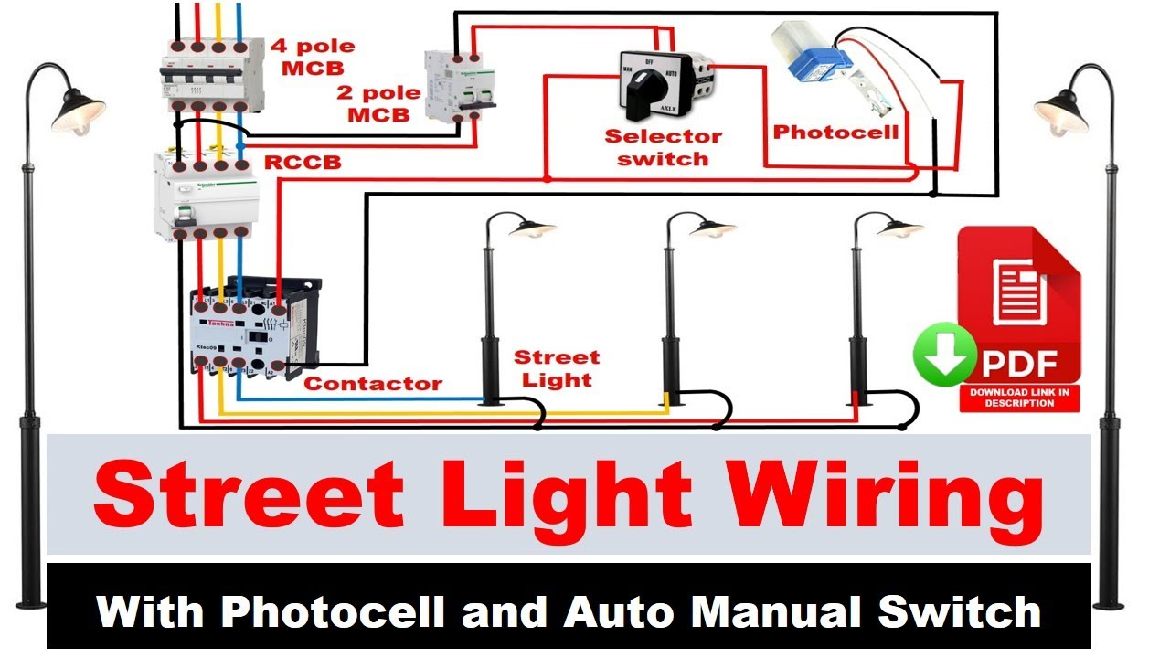 Street light Wiring connection with Sensor | photocell wiring diagram |  Electrical Technician - YouTubeYouTube
