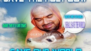 Friends listen to Shree Shree Raghaveshwara Bharathi Swamiji on Save the holy cow
