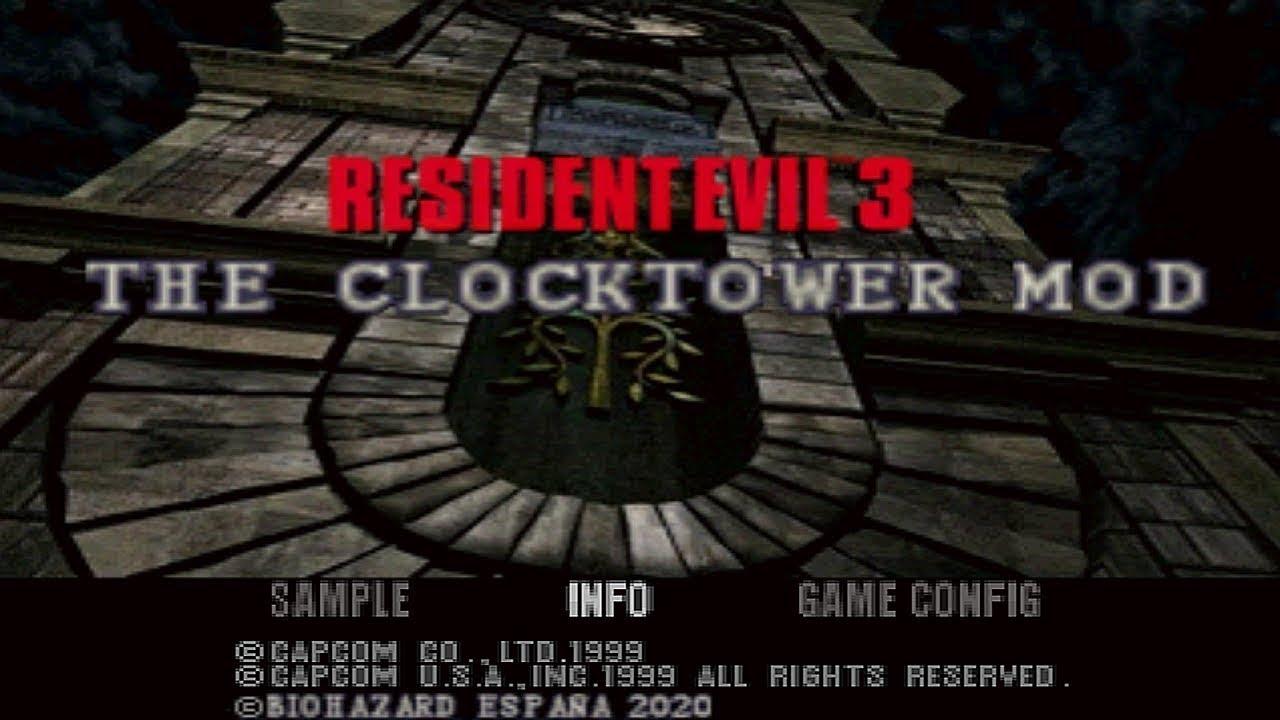 Resident Evil 3 - CLOCKTOWER DEMO MOD - PUBLIC DOWNLOAD - [ Playstation Mod ]