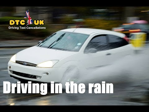 Unknown Secret - How to deal with Rain in Driving Test   DTC-UK   Driving Test UK