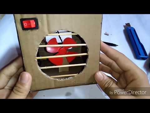 How to make cooler | motor fan cooler | motor fan