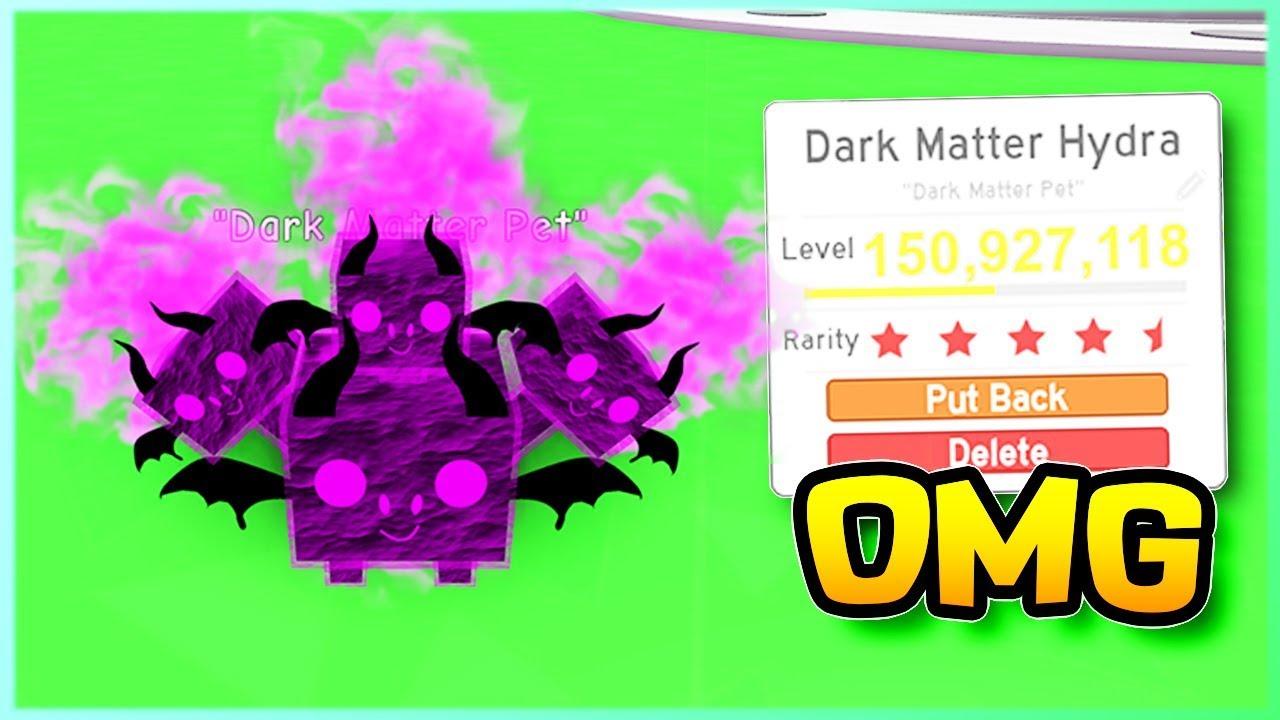 Dark Matter Roblox - I Got The Dark Matter Hydra Pet Simulator Roblox Youtube