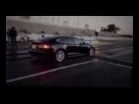 Tesla does a quarter mile in 11.7 seconds at Raceway Park