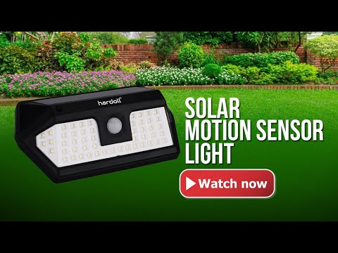 Solar Lights for Outdoor Home Garden 66 LED Motion Sensor Waterproof Lamp I HARDOLL