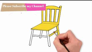 How to draw a Chair and colour  with Drowing Choice for children painting tutorial