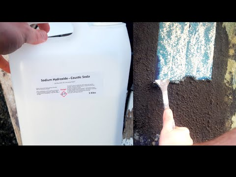 DIY Caustic Soda Gel Paint Stripper