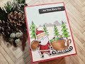 Not 2 Shabby Design Team Project | MFT Sassy Santa | Christmas Card Series 2018 | Card 1