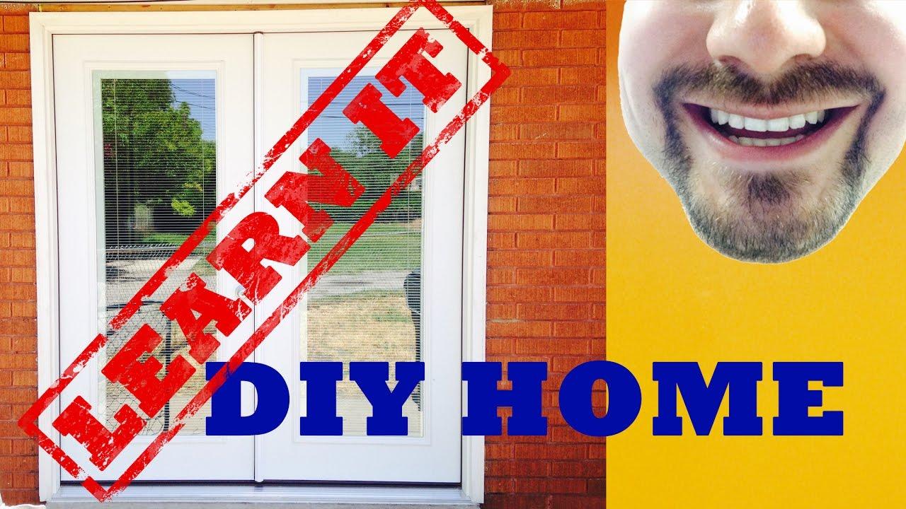 Blinds in Glass? Patio Door Install | FIX IT - YouTube