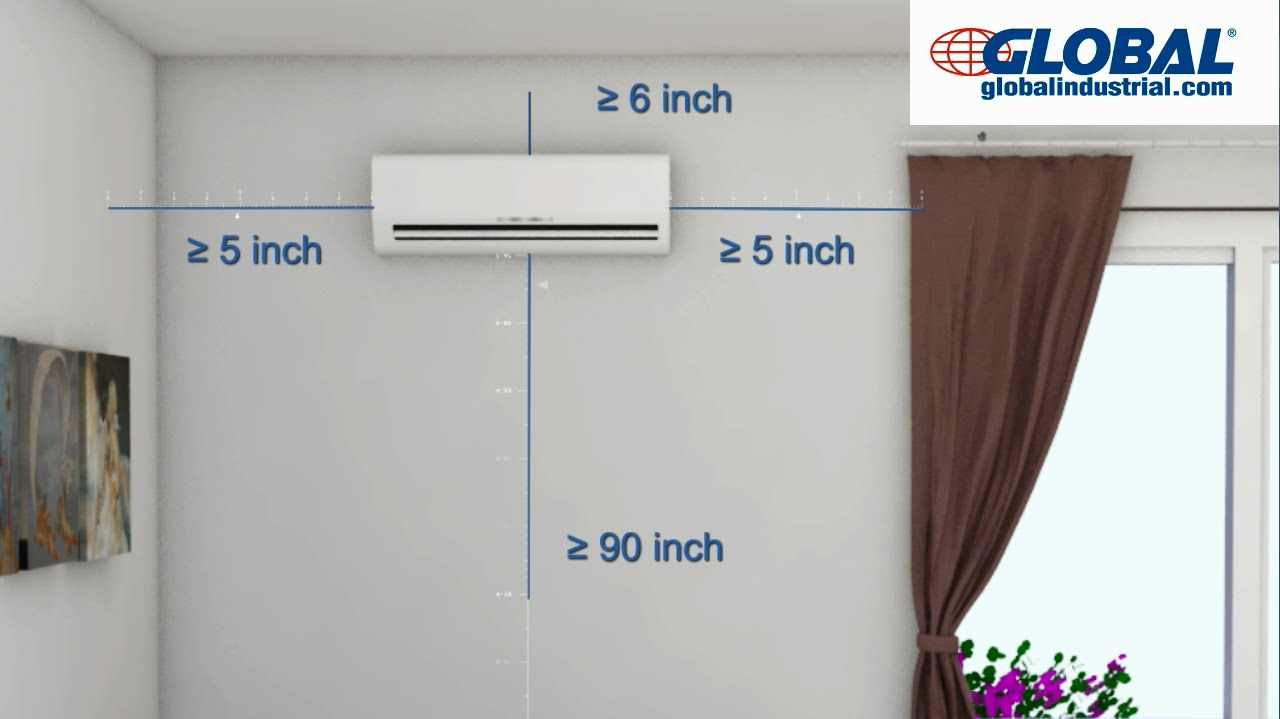 medium resolution of global ductless mini split air conditioner installation v3
