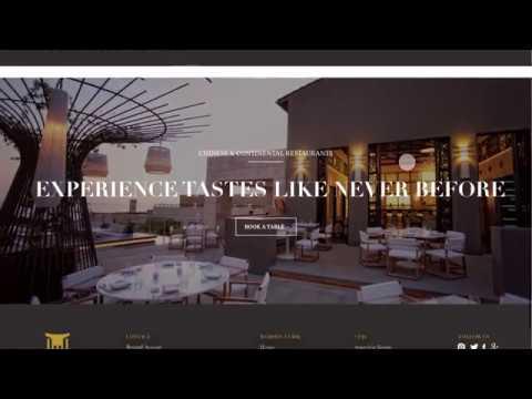 Tang Palace Website Mockup