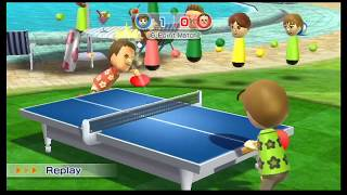 Wii Sports Resort-Table tennis #9|The Straight LINE!!!  pt.1
