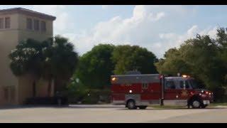 Delray Beach Fire Rescue Medic 111 Responding