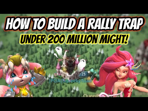 How To Build A Deadly Rally Trap! - Lords Mobile