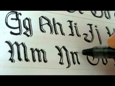 How To Write The Alphabet In Fancy Letters