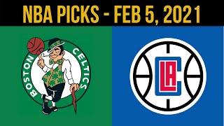 NBA Picks - Boston Celtics vs Los Angeles Clippers Predictions - Feb 5, 2021