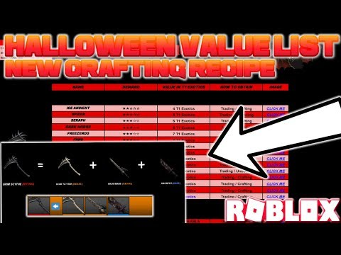 Roblox Assassin Updated Value List New Crafting Recipe
