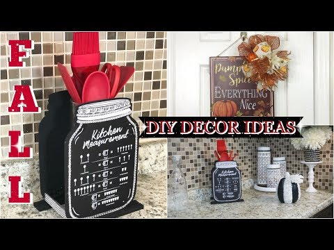 DIY DOLLAR TREE FALL HOME DECOR IDEAS 2019 | AUTUMN DIY DOLLAR TREE TREE DECOR