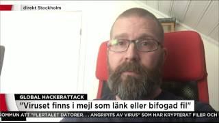 Så vet du om du drabbats av virusattacken - Nyheterna (TV4)