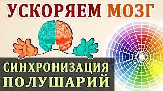 Развитие Мозга. Повышение Умственной Работоспособности. Синхронизация Полушарий Мозга