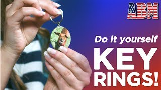 How to make a DIY keyring button - American Button Machine