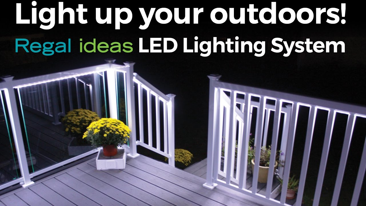 light up your outdoors with regal ideas led lighting system
