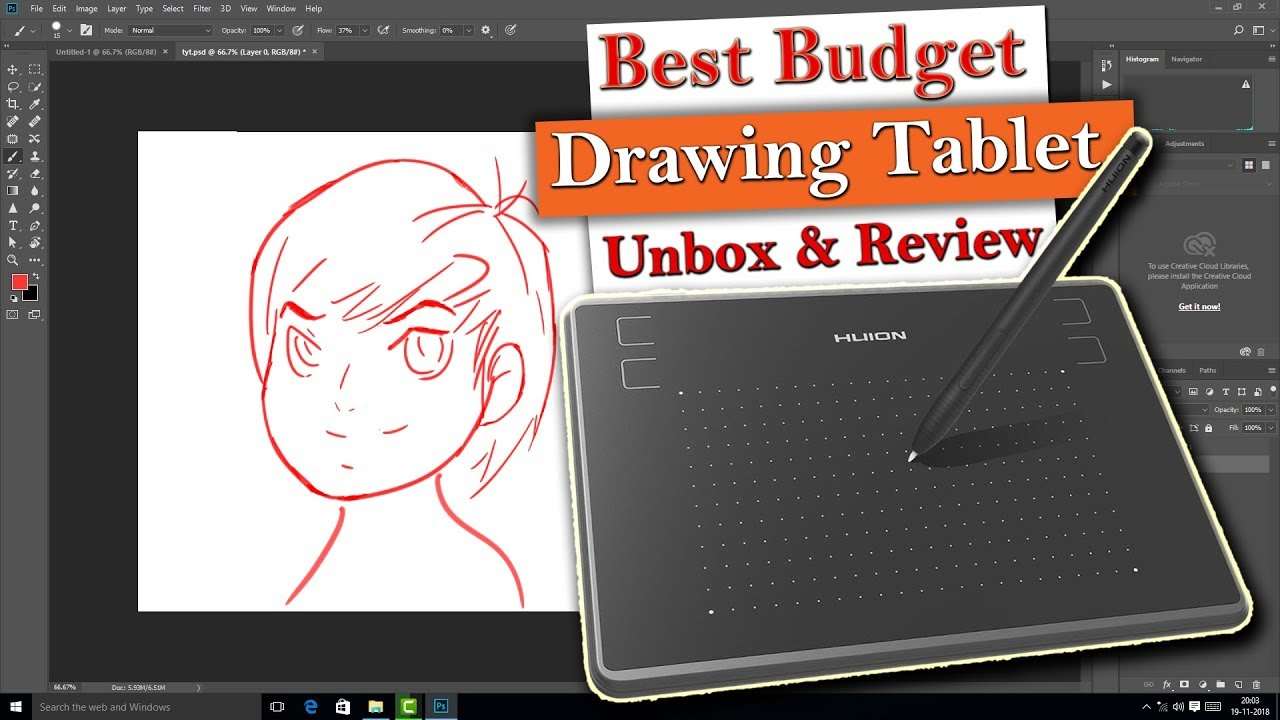 Best Budget Digital Drawing Tablet | Huion inspiroy H430P Unboxing & Review