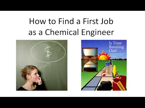 Find A First Job As A Chemical Engineer