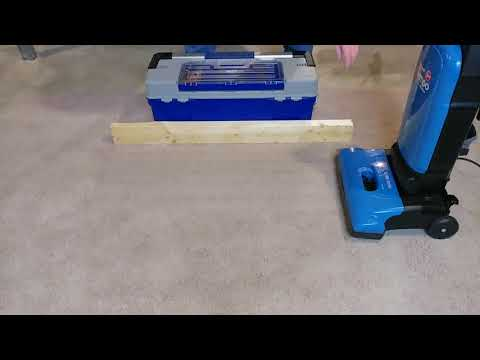 Carpet Edge Cleaning Using A Hoover Tempo Widepath