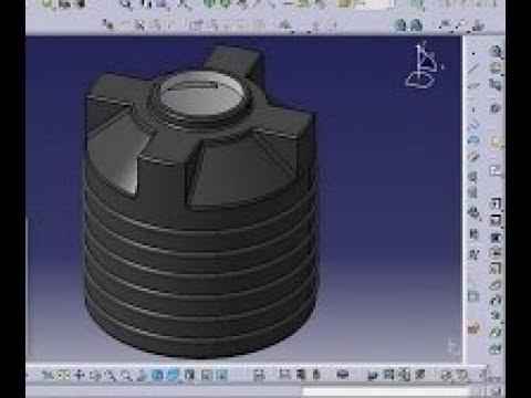 CATIA V5/V6 tutorial   Plastic Water Tank   Water Storage Tank Design    CATIA V5 Part Design Tutoria