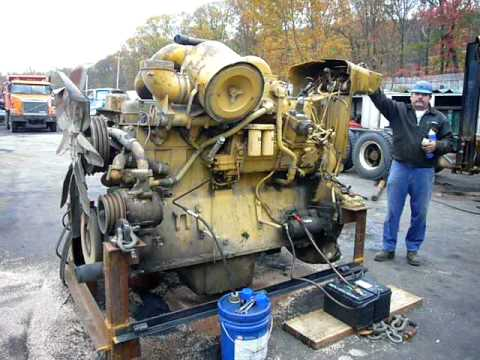 Caterpillar Motor From A D9 Dozer Youtube