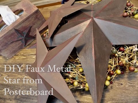 DIY Faux Metal Star From Posterboard