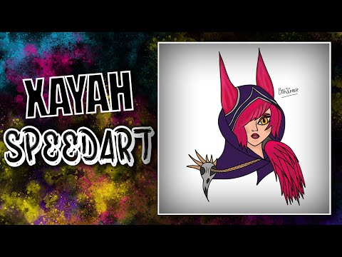 Xayah Photoshop Speedart
