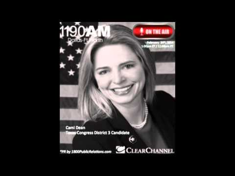 Cami Dean Texas Congress Candidate Interviewed Live on Clear Channel The Traders Network Show
