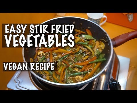 Simple Veg Stir Fry - Vegetable Stir Fry - Easy Veg Stir Fry - How to make Stir Fry - Vegan Recipes
