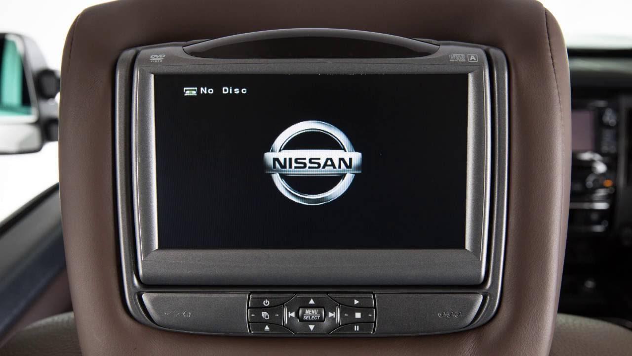 2017 Nissan Titan Dual Head Restraint Headrest Dvd