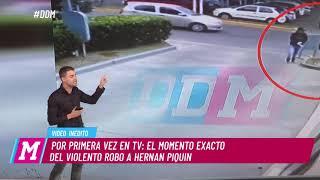 Imágenes del violento asalto a Hernán Piquín