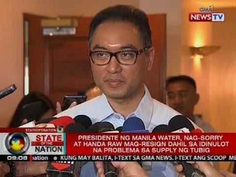 SONA: Presidente ng Manila Water, nag-sorry at handa raw mag-resign