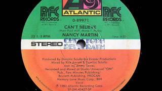 Nancy Martin - Can't Believe - 12'' 1982