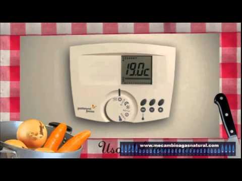 Uso del termostato de calefacci n de gas natural youtube - Termostato para calefaccion ...