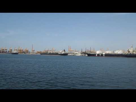 DUBAI-EXIT FROM THE PORT--07.05.2017