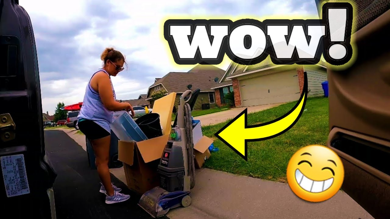 We Found Possibly The BEST Item We've Found All Year In The TRASH!! |CURBSIDE TREASURE HUNT!!