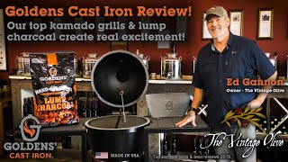 Top Kamado Grills - Best Reviews - The Vintage Olive - Goldens Cast Iron